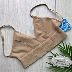 Free People⭐️Low Back Bralette NWT Nude XS/S